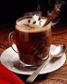 Hot Chocolate & Coffee Recipe: Made with freshly ground coffee & bittersweet chocolate / My Halal Kitchen