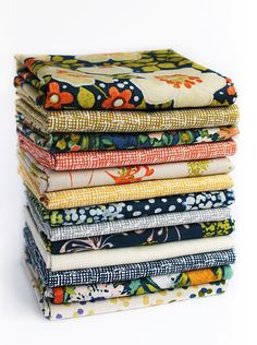 Dear Stella Fabrics, Beautiful, Modern Floral Daze Fabric Collection. One Fat Quarter or 1/2 Yard cut of each print in the collection, 13 all