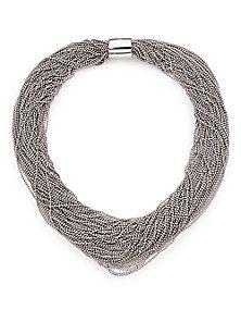 Brunello Cucinelli - Silver Twist Collar Necklace (=)