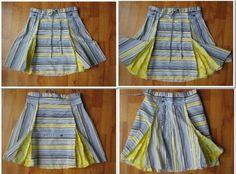 Love it! Shirt to skirt tutorial