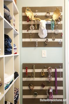 summer home ideas | the handmade home - now this here is a fun closet. I never thought to make my closet fun!