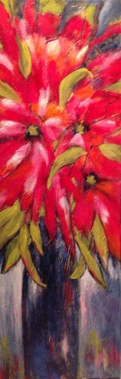 """""""Heureux d'un printemps"""" - Acrylique sur toile - 12"""" x 36"""" - VENDUE"""