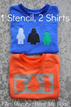 I Am Momma - Hear Me Roar: Lego Star Wars Tee (with a free template) not really sewing but don't want it to get lost on my craft page...need to make some of these!