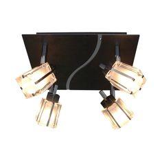 Näve   energie  C, Plafondlamp Laurenz - metaal zwart 4 lichtbronnen, Näve   www.ledlamp.nl