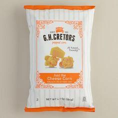 One of my favorite discoveries at WorldMarket.com: G.H. Cretors Just Cheese Popcorn