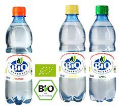 BioMinerale ** Woda mineralna o smaku cytrynowym, jabłkowym lub pomarańczowym *Bez cukru, substancji słodzących i Bez konserwantów z certyfikatem BIO.