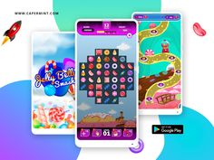 Jelly Belly Smash designed by Capermint Tech. Connect with them on Dribbble; Mobile Game Development, Unity 3d, Jelly Belly, Games Today, Best Mobile, Game App, Google Play, Android, Puzzle