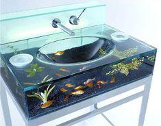 Aquarium sink!! Perfect for the Kids Bathroom!