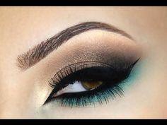 ♡Smokey Eye ♡ Marrom e Verde ♡ - YouTube