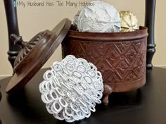 Awesome DIY Decorative Globes - Using Pull Tabs ??!!  Tutorial on the blog