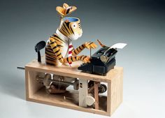 Typing Tiger by Paul Spooner of Cabaret Mechanical Theatre. Fabulous!