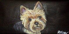 Yorkshire Terrier Yorkie Dog Custom Painted by daniellesoriginals, $24.00