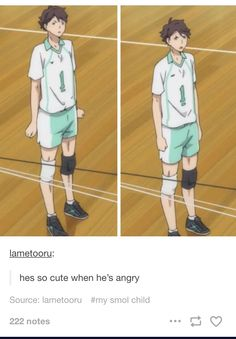 Oikawa Tooru / I can't believe he's clenching dem tiny fists, my boyfriend is so smol