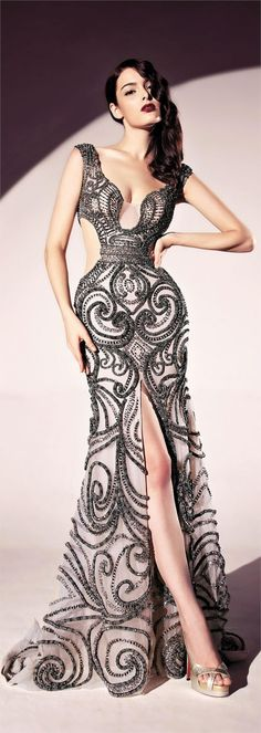 """In this post you will see a lot of glamour and elegance. I give you """"Scenario Reading"""" by Dany Tabet Haute Couture Fashion Moda, Look Fashion, High Fashion, Womens Fashion, Fashion Art, Trendy Fashion, Dress Fashion, Fashion Designer, Fashion Black"""