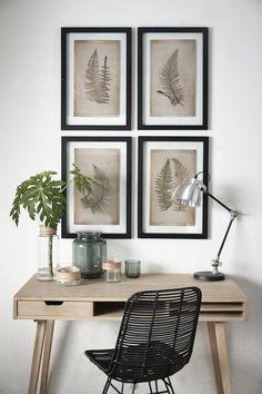 Pensez aux chaises en rotin pour aménager votre coin bureau :) #rotin #Hübsch