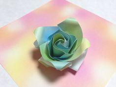 達人折りのバラの折り紙23 Only one origami rose23