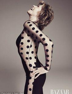 Jane Fonda, 73, displays her age-defying figure in a sheer dress