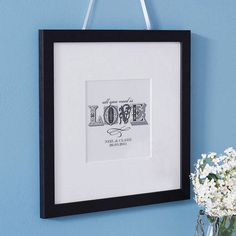 personalised 'love' typographic print by letterfest | notonthehighstreet.com