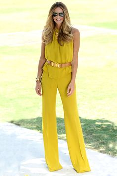 I'm loving the  colored jumpsuit!