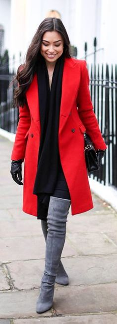 Red Chic Coat by With Love From Kat
