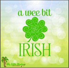 A wee bit Irish with Shamrock Flourish by MyLittleMonkeysGifts
