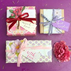 Calligraphy by @jbcalligraphy Velvet ribbons by @janemeans Papers by Chocolate Elephant and Fox & Lark