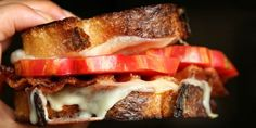 Grilled Cheese with Tomatoes and Bacon Recipe