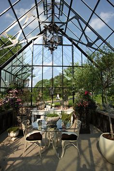 greenhouse/sunroom/awesome place for winter being outdoors. Probably way too hot in the summer...  | Best Winter Garden Home Design Ideas. See more inspirational ideas at http://www.pinterest.com/homedsgnideas/winter-garden-home-design-ideas/