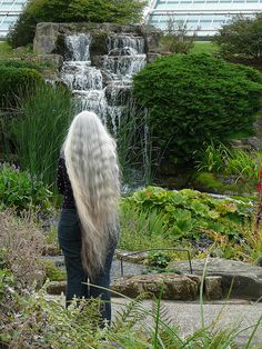 long, silver, wavy & beautiful