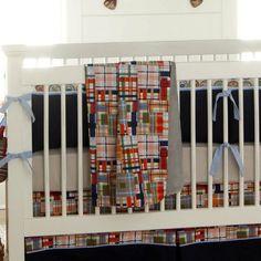 plaid nursery ideas   Patchwork Plaid Crib Blanket   Carousel Designs