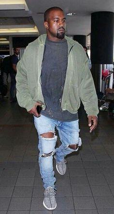 Kim And Kanye, Kim Kardashian And Kanye, Kanye West Style, Yeezy Outfit, Gentleman Style, Streetwear Fashion, Celebrity Style, Street Wear, Bomber Jacket