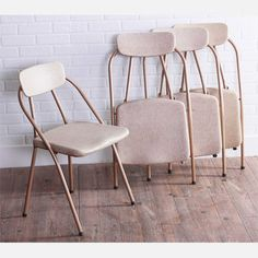 My design inspiration: Vintage Folding Chairs Set Of 4 on Fab.
