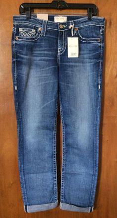 NWT BIG STAR KATE Blue Jeans Size 28 Mid Rise Straight Women Denim Pant Winter #BigStar #StraightLeg
