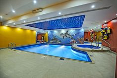 Indoor Swimming Pool: Spacious room for kids