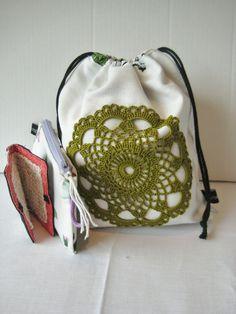Strikket%C3%B8ypose%20med%20tilbeh%C3%B8r%20-30% Drawstring Backpack, Backpacks, Bags, Handbags, Totes, Backpack, Lv Bags, Hand Bags, Bag