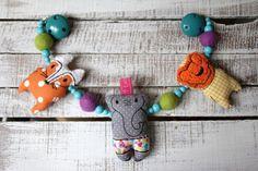 Kinderwagenketten - Kinderwagenkette Zirkuszeit - ein Designerstück von Liebens_Wert bei DaWanda