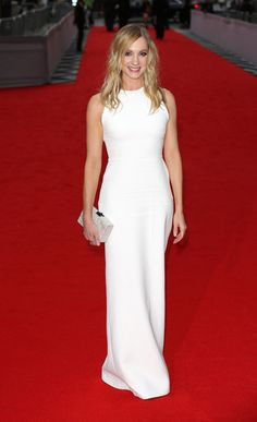 "Joanne Froggatt in a Victoria Beckham gown attends as BAFTA celebrate ""Downton Abbey"" on August 11, 2015"