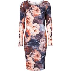Vero Moda Eva Bodycon Ls Knee Dress ($16) ❤ liked on Polyvore featuring dresses, snow white, body con dresses, vero moda, longsleeve dress, bodycon dress and vero moda dress