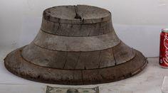 Hat form mold OLD Millner's Millnery Antique round wood tool vintage shabby | eBay
