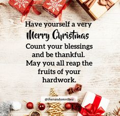 Have yourself very Merry Christmas Count your blessings and be thankful. May you all reap the fruits of your hardwork. #Christmasquotes #Merrychristmasquotes #Shortchristmasquotes #2020Christmasquotes #Merrychristmas2020quotes #Christmasgreetings #Inspirationalchristmasquotes #Cutechristmasquotes #Christmasquotesforfriends #Warmchristmaswishes #Bestchristmasquotes #Christmaswishesforfamily #Christmascaptions #Festivechristmasquotes #Merrychristmaspictures #Santaclausquotes #therandomvibez Christmas Wishes For Family, Short Christmas Quotes, Christmas Quotes Images, Christmas Quotes For Friends, Christmas Captions, Merry Christmas Pictures, Merry Christmas Wishes, Very Merry Christmas, Christmas Music