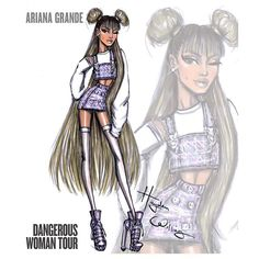 llustration by Hayden Williams (@ hayden_williams)   @arianagrande #DangerousWomanTour. Here is look3 #ArianaGrande #DangerousWoman