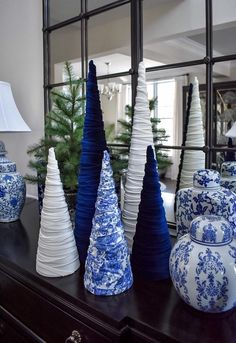 Add some elegance to your holiday display with a gorgeous velvet cone tree. Tall Wide at base Off white stretch velvet material Blue Christmas Decor, Cool Christmas Trees, Christmas Tree Themes, White Christmas, Christmas Tree Decorations, Christmas Diy, Holiday Decor, Hanukkah Diy, Velvet Material