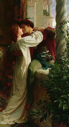 And Juliet Painting by Sir Frank Dicksee - Romeo And Juliet Fine Art Prints and Posters for Sale Frank Dicksee, Classic Paintings, Old Paintings, Romantic Paintings, Rennaissance Art, Renaissance Paintings, Famous Art, Victorian Art, Classical Art