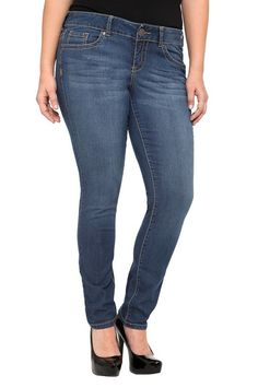 Torrid Denim - Sophia Medallion Embroidered Skinny Jeans | Skinny #IAmTorrid