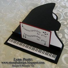 Piano Card by lpratt - Cards and Paper Crafts at Splitcoaststampers