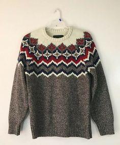 Men/'s Urban Pipeline NORDIC Pullover 1//2 Zip Aztec Sweater ~ Fair Isle Pull-Over