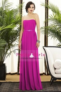 2013 A-Line/Princess Long Bridesmaid Dresses Sweetheart Pleated Bodice Chiffon USD 119.99 PGDPC7DD7XE - PrettyGirlsDresses.com