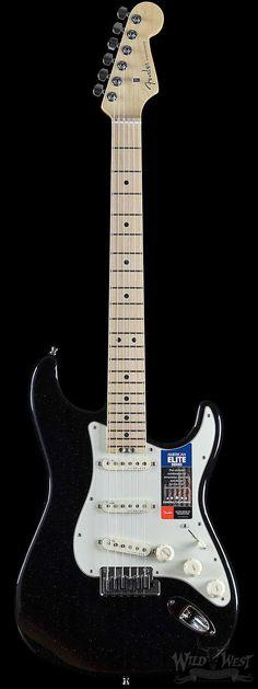 Fender American Elite Stratocaster Mystic Black Maple Board