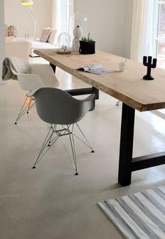 table de salle à manger, table design industriel bois et fer