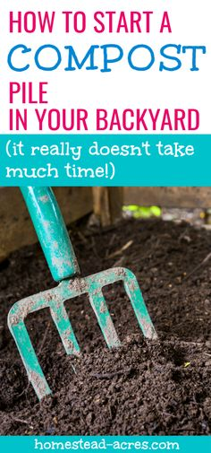 How To Compost For Beginners - Starting a compost pile in your backyard is one of the best things you can do for your organic garden! Learn everything you need to get started from the best place to start the pile to how often to turn it. Garden Compost, Veg Garden, Hydroponic Gardening, Edible Garden, Hydroponics, Veggie Gardens, Vegetable Gardening, Garden Plants, How To Start Composting